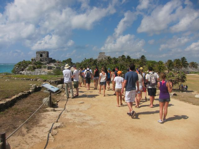 Crowds at Tulum