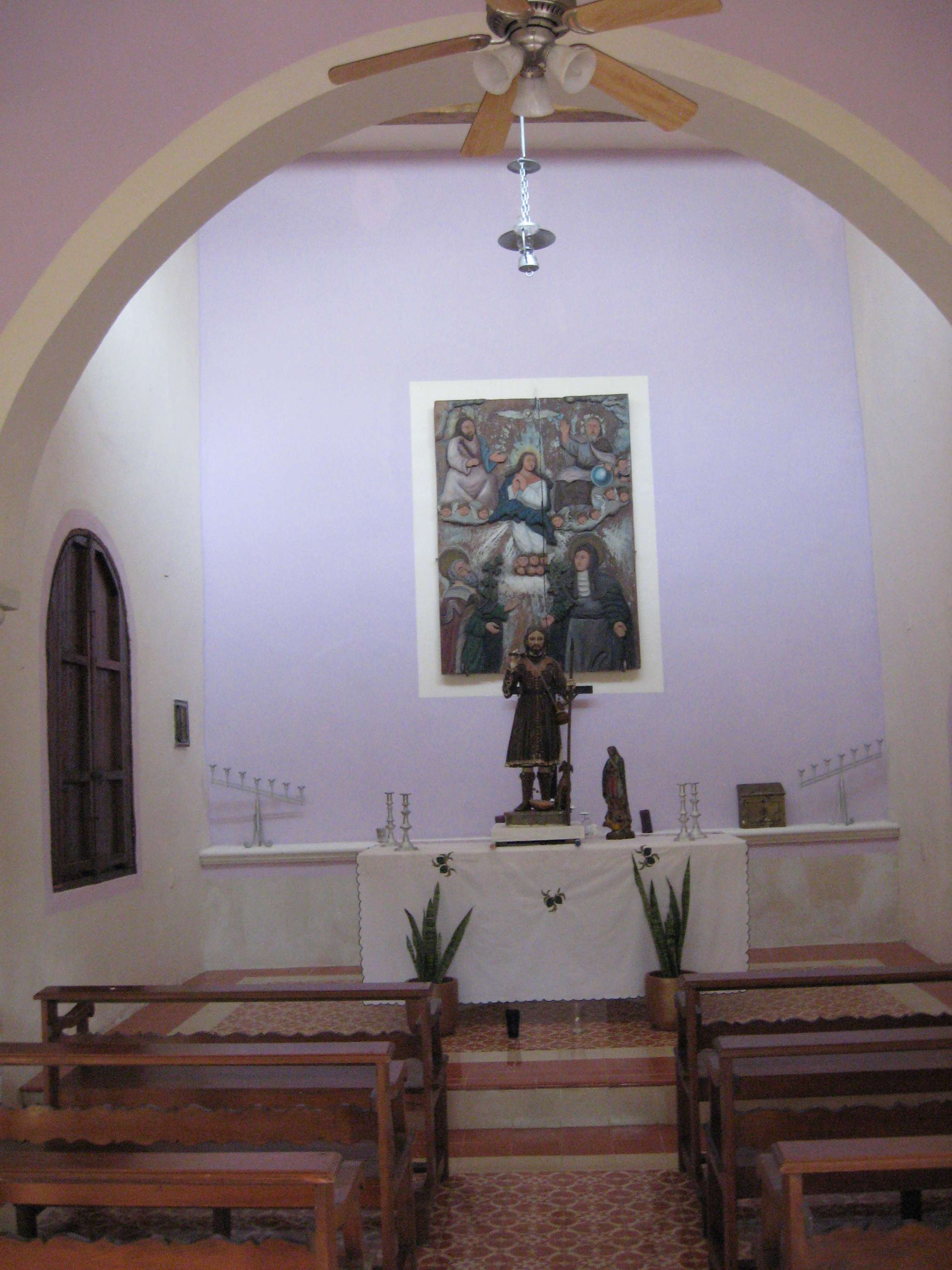 Inside the Chapel at the Hacienda