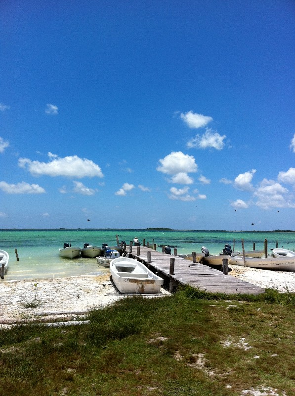 Turquoise blue lagoon