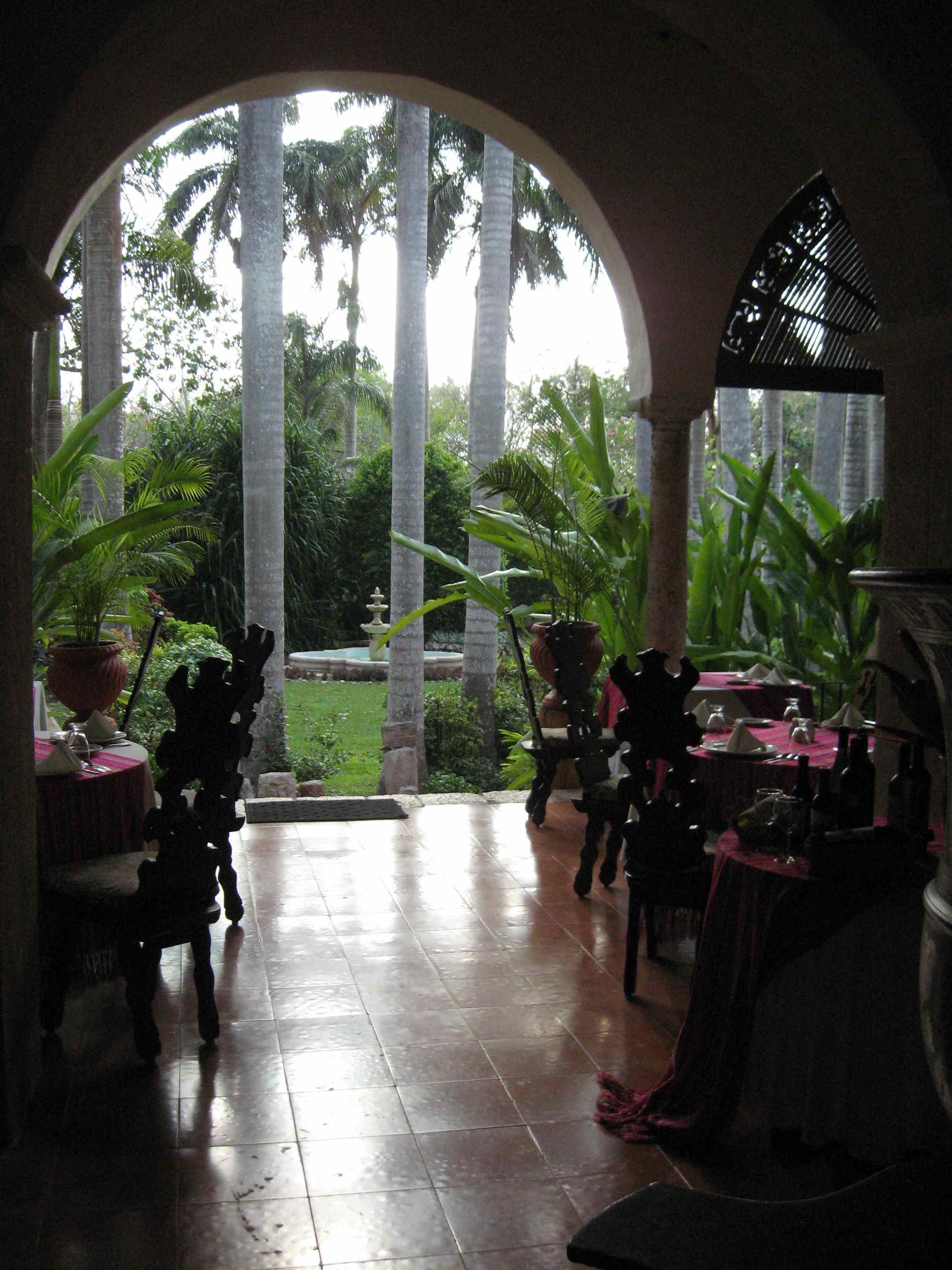 Portico at the Hacienda Chichén Itzá
