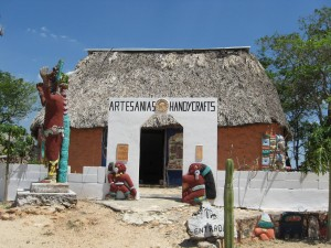 Tourist Shop Close to Restaurant outside Uxmal