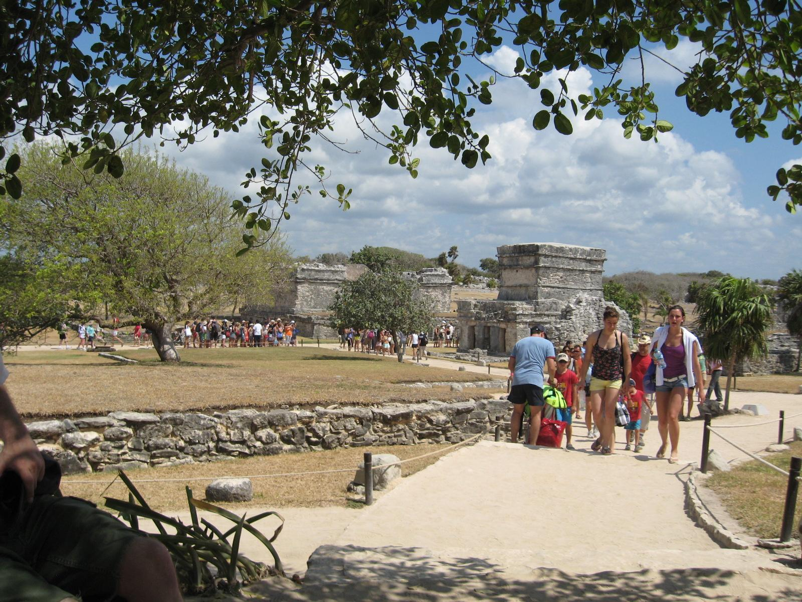 Tourists at Tulum